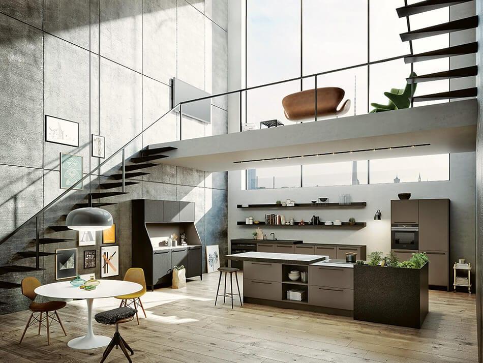 Küche unter der Treppe